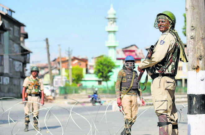Situation improving, Centre to stick to 'aggression' in J&K
