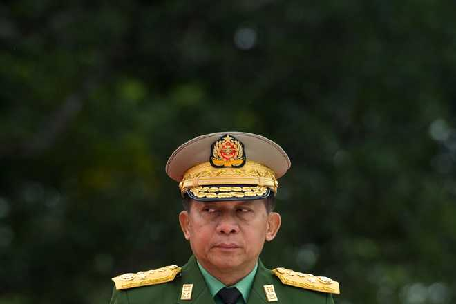 US bans Myanmar army chief Min Aung over Rohingya 'ethnic cleansing'