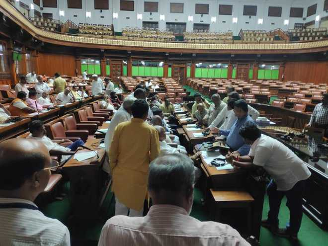 Trust vote: K'taka Assembly adjourned; BJP MLAs to stay put overnight