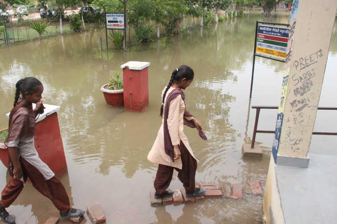 Waterlogging: Students face tough time at school