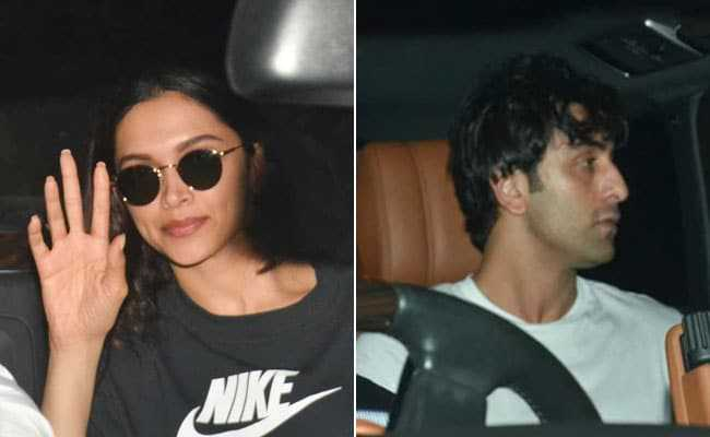 Ranbir Kapoor, Deepika Padukone spotted at Luv Ranjan's residence