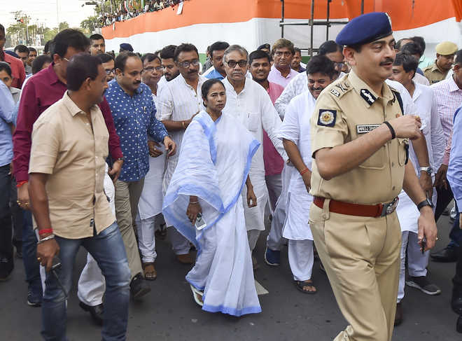 Central agencies threatening TMC leaders, asking them to join BJP: Mamata