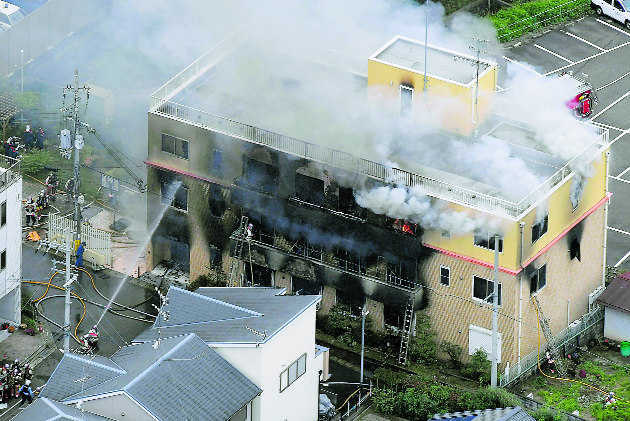 Smoke spread so fast at Japanese animation firm victims couldn''t open rooftop door