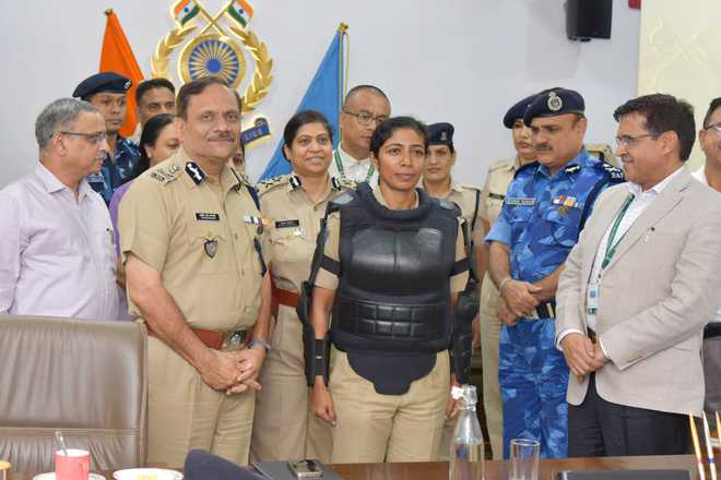 CRPF unveils country's first body protector for women