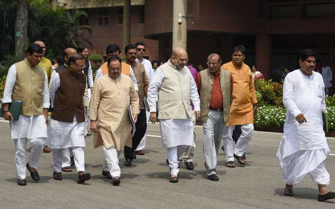 Amit Shah holds consultation with party leaders on Karnataka