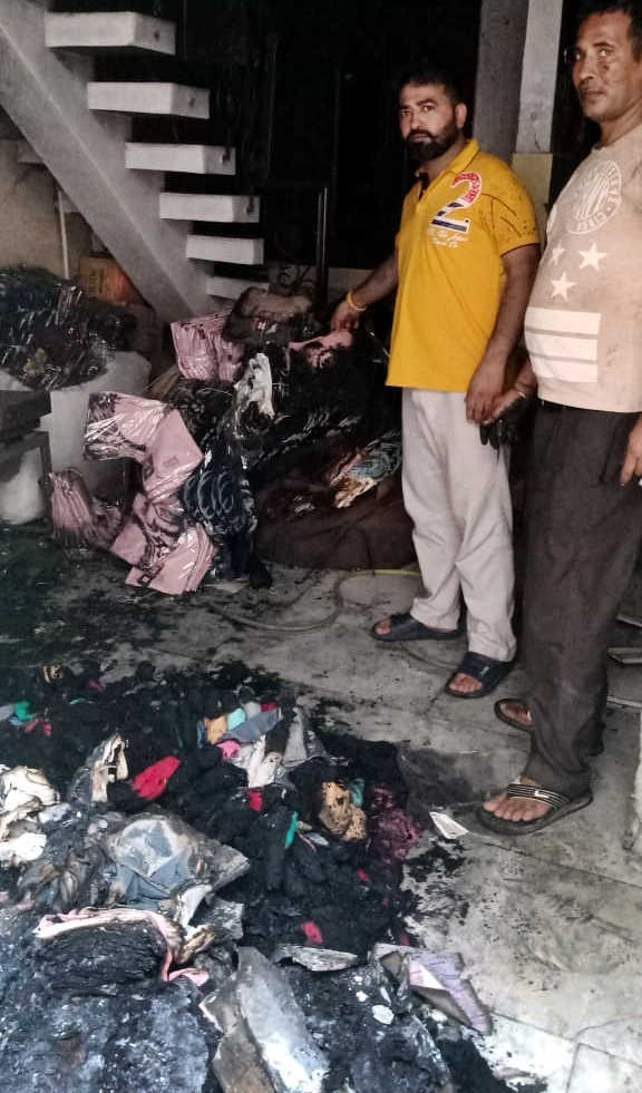 Narrow escape for owner's family in factory fire