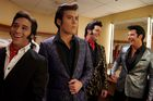 Performers Cote Deonath, Taylor Rodriguez, Ben Thompson and Jay Dupuis wait in a dressing room prior to performing at the Las Vegas Tribute Festival at Sam's Town Hotel and Gambling Hall on July 12, 2019 in Las Vegas, Nevada. — AFP