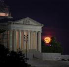 NASA photo shows the Moon setting behind the Jefferson Memorial in Washington DC, on July 16, 2019, fifty years to the day after astronauts Neil Armstrong, Michael Collins, and Buzz Aldrin launched on Apollo 11, the first mission to land astronauts on the Moon. — AFP
