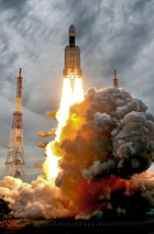 India's second moon mission Chandrayaan-2 lifts off onboard GSLV Mk III-M1 launch vehicle from Satish Dhawan Space Center at Sriharikota in Andhra Pradesh on July 22, 2019. ISRO/ PTI photo