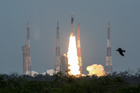 India's Geosynchronous Satellite Launch Vehicle Mk III-M1 blasts off carrying Chandrayaan-2, from the Satish Dhawan Space Centre at Sriharikota in Andhra Pradesh on July 22, 2019. Reuters