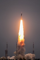 Indian Space Research Organisation's (ISRO) Chandrayaan-2 (Moon Chariot 2), on board the Geosynchronous Satellite Launch Vehicle (GSLV-mark III-M1), launches in Sriharikota in the state of Andhra Pradesh on July 22, 2019. AFP photo