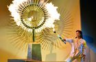 Peruvian ex-volleyball player Cecilia Tait lights the flame during the opening ceremony of the Lima 2019 Pan-American Games at the National Stadium in Lima, on July 26, 2019. — AFP