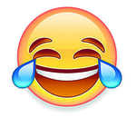 Laughing with tears of joy most-used emoji