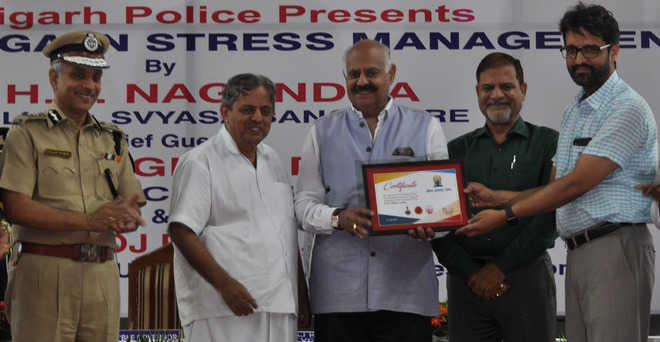 1,200 take part in UT police yoga event