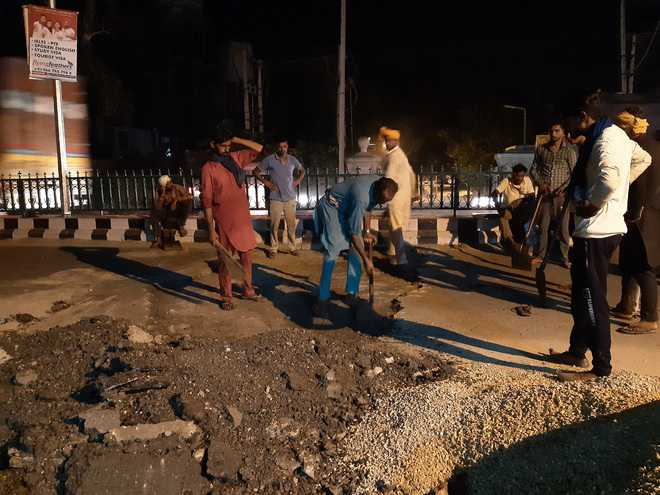 Sangrur road under lens for 'poor' quality repaired