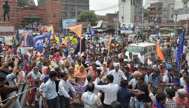 Dalit bandh halts routine business