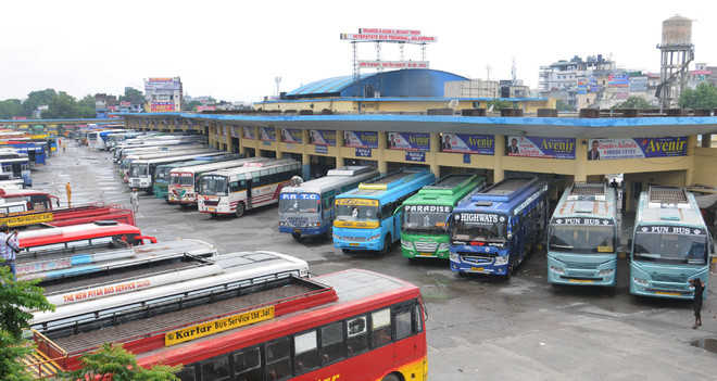Commuters at receiving end as buses remain off road