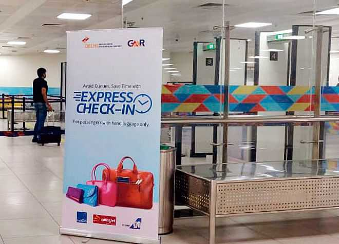 Express check-in at IGI Airport's T2