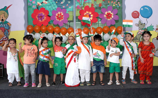 Schools celebrate I-Day with zeal
