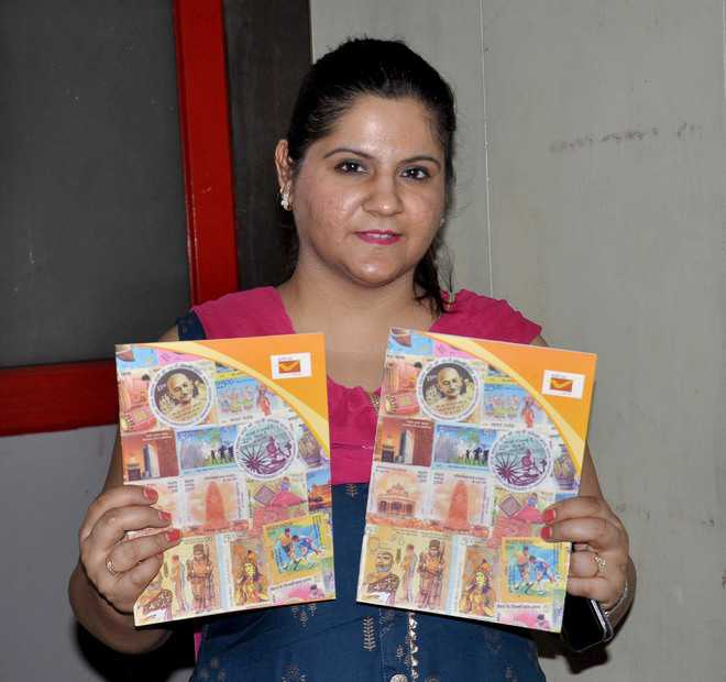 Notebooks to promote stamp collection among children