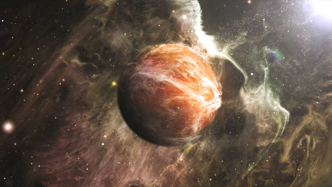 Jupiter still reeling from head-on collision 4.5bn years ago