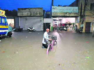 Streets inundated, rainwater enters houses