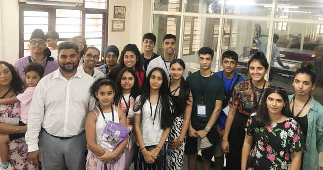 Punjabi youths from UK visit city sports manufacturing unit