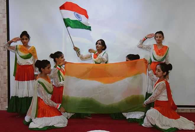 Patriotic group song competition
