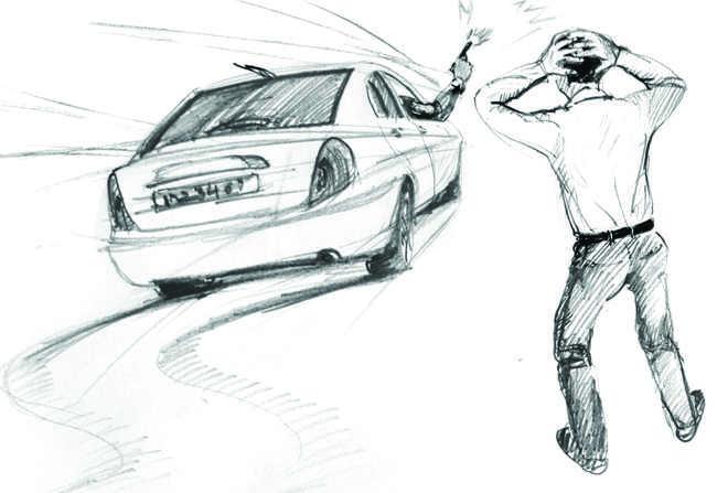 2 youths use pepper spray, take away car
