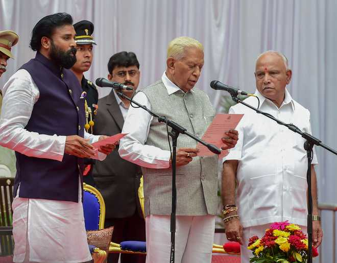 Yediyurappa inducts 17 ministers in first cabinet expansion