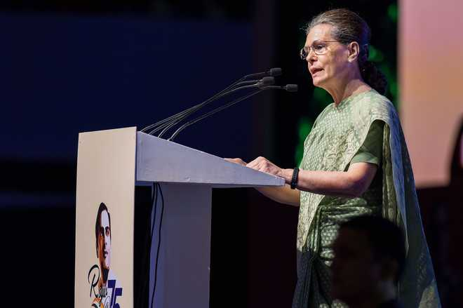 Rajiv did not use massive poll mandate to create fear, destroy institutions: Sonia