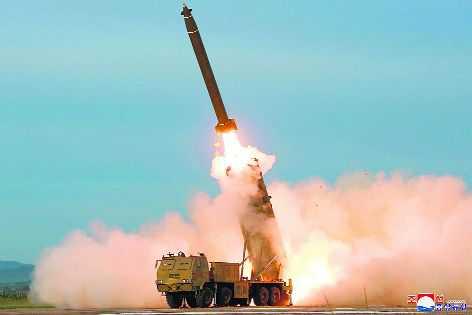 N Korea tests 'super-large' multiple rocket launcher