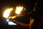 A performer plays with fire during a show on the beach as an entertainment for tourists and Egyptians at the Red Sea resort of Hurghada, Egypt on July 28, 2019. — Reuters