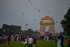 People fly kites as others gather at India Gate to celebrate the 73rd Independence Day in New Delhi, August 15, 2019. — PTI