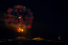 Fireworks explode over the town of Victoria on the Maltese island of Gozo during celebrations marking the feast of the Assumption of Our Lady in Malta, August 15, 2019. — Reuters