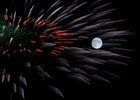 Fireworks explode in front of the full moon during celebrations marking the feast of the Assumption of Our Lady in Mosta, Malta, August 14, 2019. — Reuters