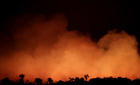 Smoke billows during a fire in an area of the Amazon rainforest near Humaita, Amazon's state, Brazil, August 17. Reuters