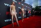 US model Gigi Hadid and her sister model Bella Hadid arrive for the 2019 MTV Video Music Awards at the Prudential Centre in Newark, New Jersey on August 26, 2019. — Reuters