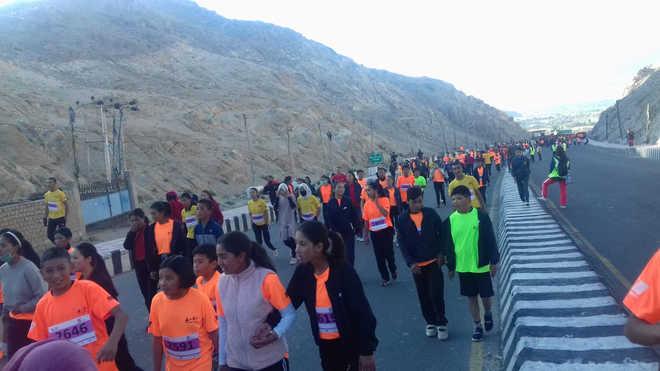 Over 6,000 participate in world's highest marathon in Ladakh