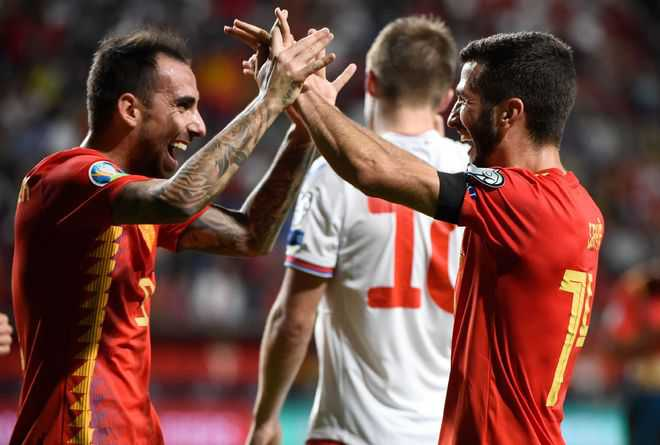 Spain on brink of Euro qualification