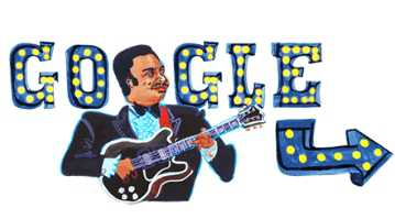 Google honours 'King of the Blues' B B King with doodle