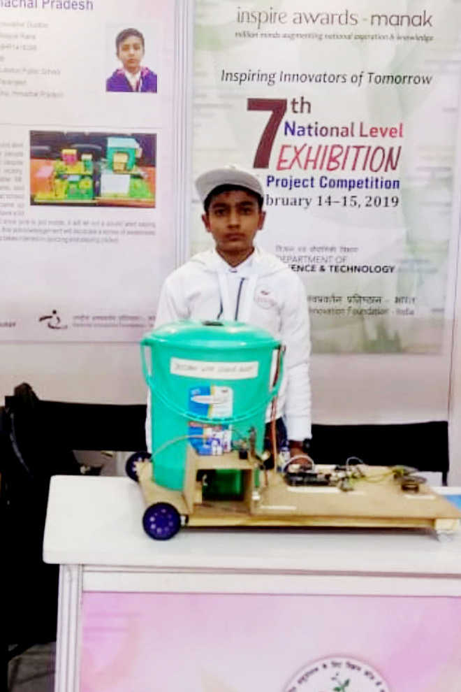 Class IX student's science model chosen for Inspire India Award