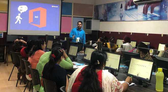 Teachers attend training programme on Microsoft