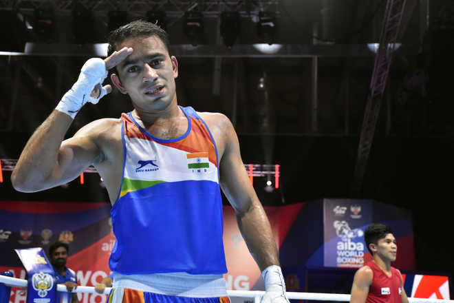 Boxing Worlds: Amit Panghal becomes first Indian to enter final