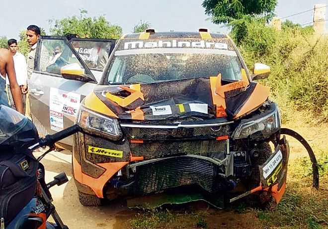3 die as bike collides with Gill's car at rally