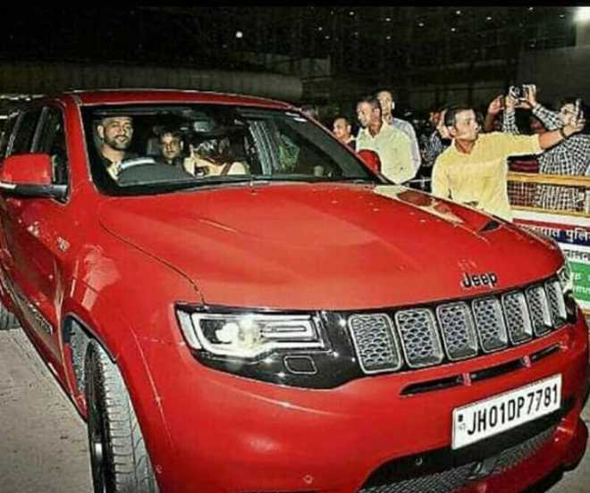 MS Dhoni drives 'red beast' Jeep Cherokee for first time, grabs eyeballs: Watch