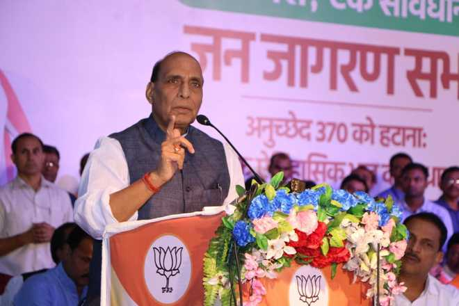 Article 370 bled J-K; three-fourths of population supported abrogation: Rajnath