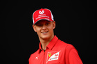 Racing driver Mick Schumacher attends an event to celebrate 90 years of Italian premium sports car maker Ferrari racing team at Milan's Duomo square, in Milan, Italy on September 4, 2019. — Reuters