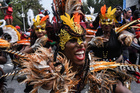 People participate in the annual West Indies Day parade in the borough of Brooklyn in New York City on September 2, 2019. — Reuters