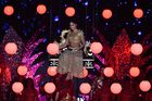 Bollywood actress Katrina Kaif performs on stage during the 20th International Indian Film Academy (IIFA) Awards at NSCI Dome in Mumbai on September 18, 2019. — AFP
